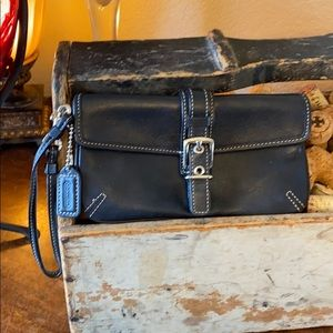 Coach Classic mini leather Wristlet